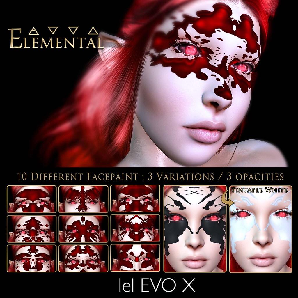 ELEMENTAL - Lelutka Evo X - 'Rorschach'