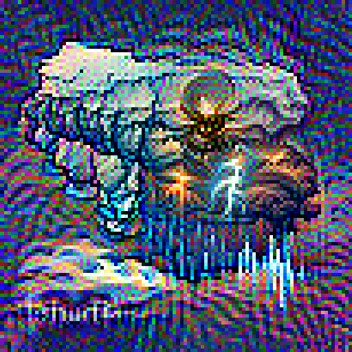 'an illustration of of a thunder storm' Pixel Direct Text-to-Image