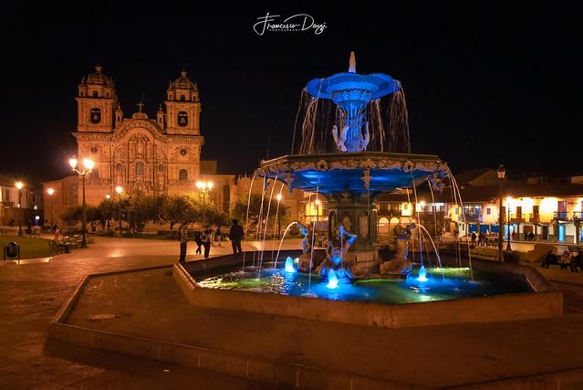 Plaza de Armas with Iglesia de la Compania de Jesus in Cusco