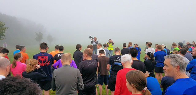 Bromley parkrun in the fog 09 October 2021
