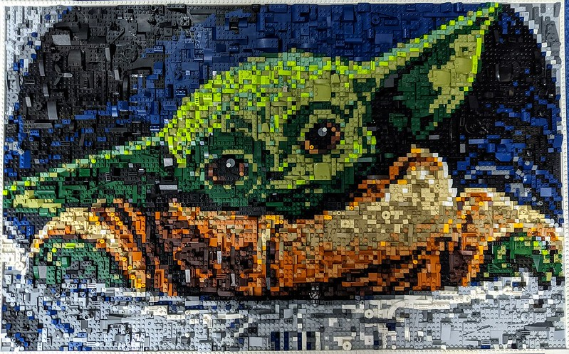 This LEGO Star Wars mosaic is far from child's play