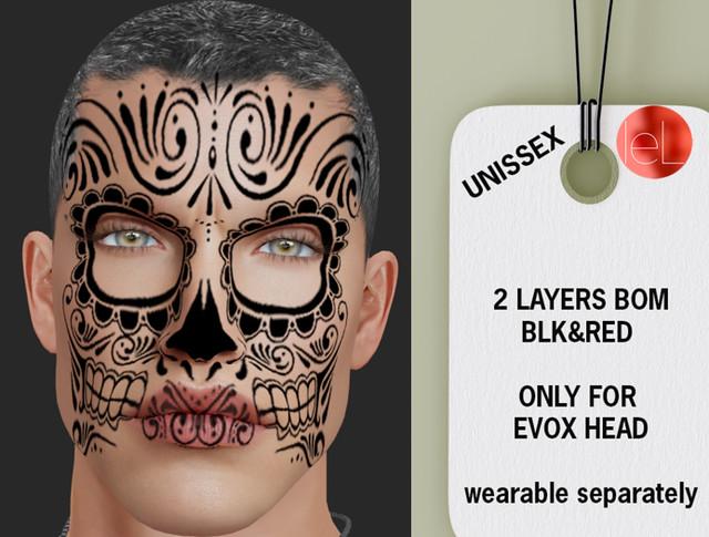 !O.S! Make Los muertos Halloween 2 colors BOM EVOX
