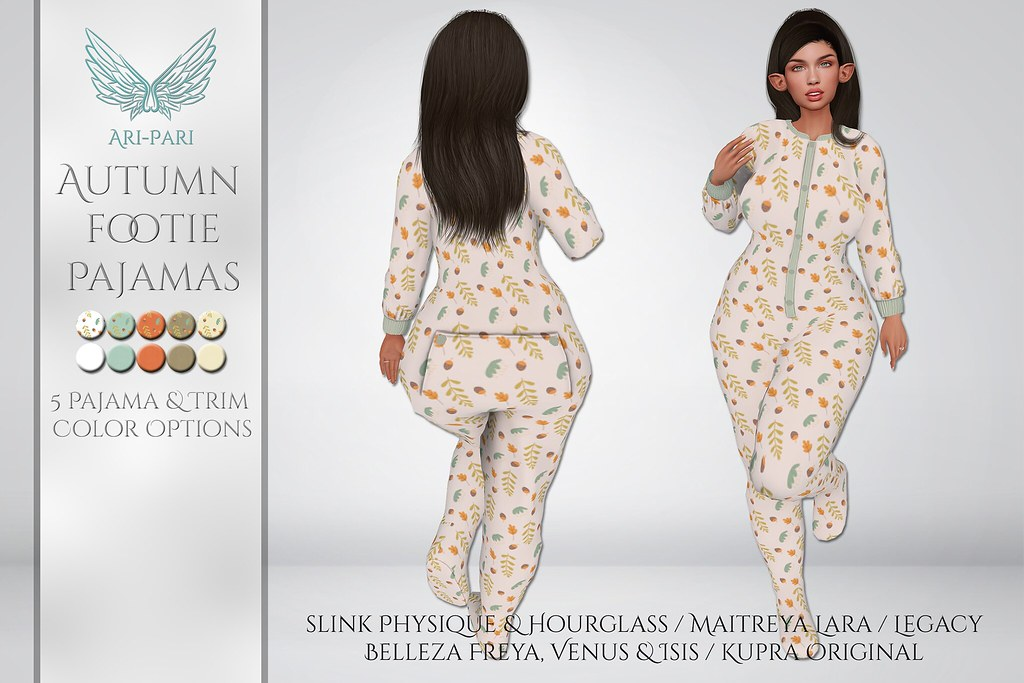 [Ari-Pari] Autumn Footie Pajamas