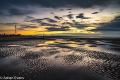 Rhyl Beach Sunset Wales