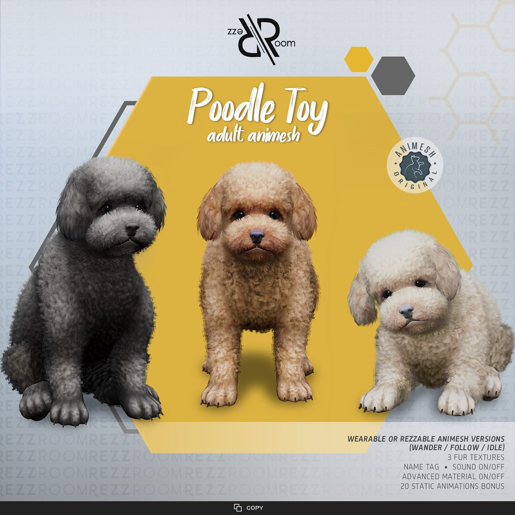 [Rezz Room] Poodle Toy  Adult Animesh (Companion)