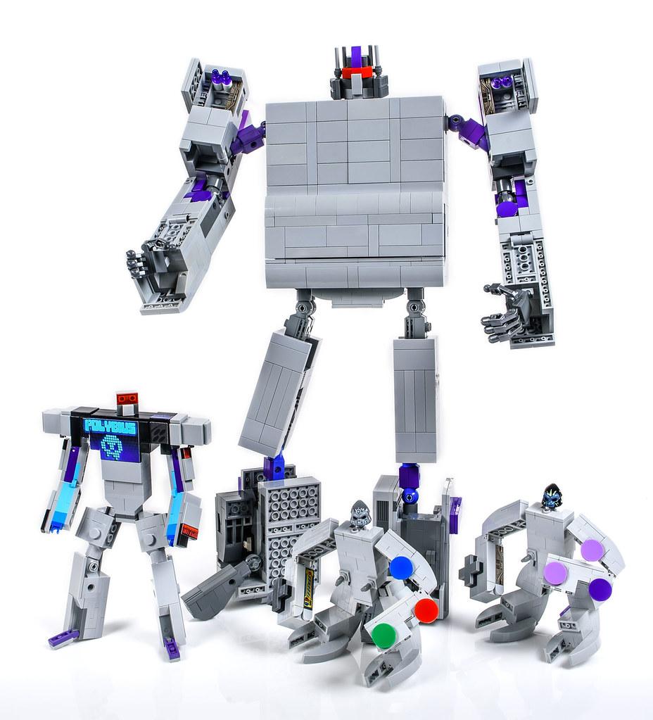 LEGO Super Nintendo Transformers (group shot)
