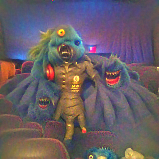 'a movie monster' FourierVisions Text-to-Image