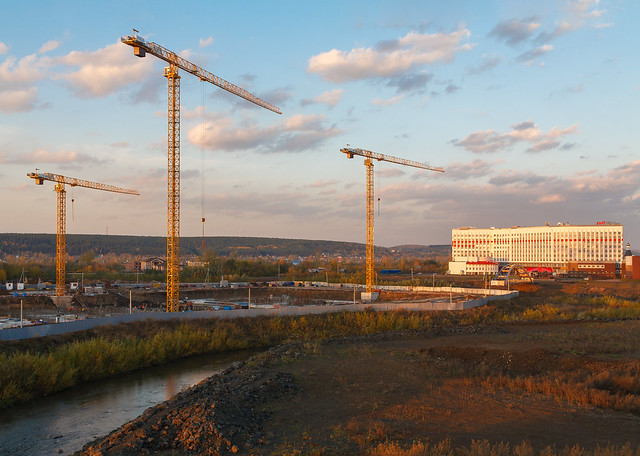A construction site in Kemerovo city
