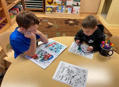 coloring woodland animals
