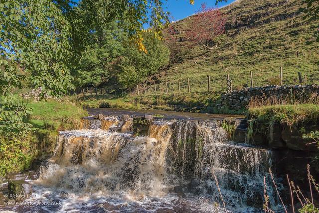 Ettersgill Waterfall in Autumn Sun Oct 2021