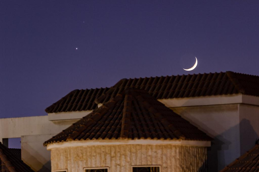 Venus & Moon Crescent