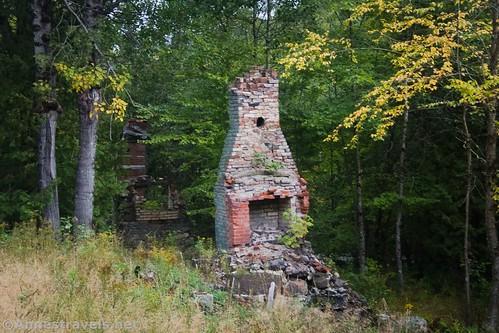 Chimney at the Upper Works, Adirondack Park, New York