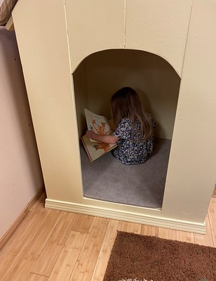 reading in the quiet house