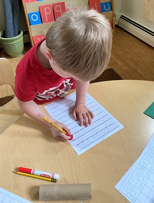 letter N writing practice