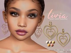 LIVIA // Heart Hoop Earrings