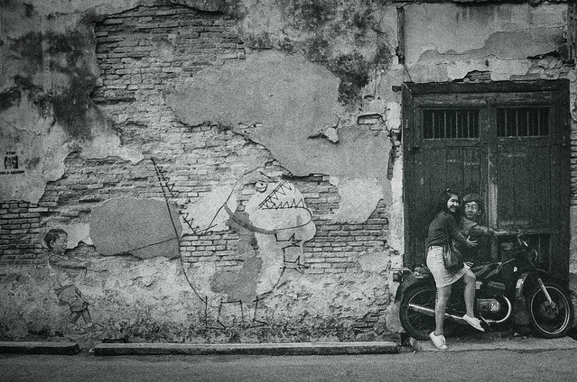 Mural - Boy on Motorbike by Ernest Zacharevic ~ EXPLORED #192 (09-Oct-2021)