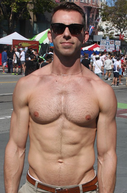 BEAUTIFUL MUSCLE  STUD  ! photographed by ADDA DADA ! ~ CASTRO  STREET FAIR 2021 !  (safe photo) (50+ faves)
