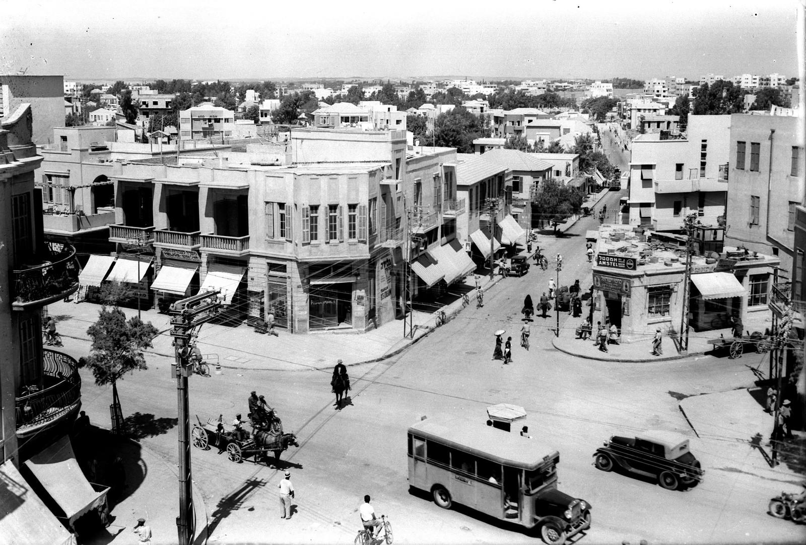 03. 1934. Перекресток улиц Шенкин, Алленби и Кинг Джордж