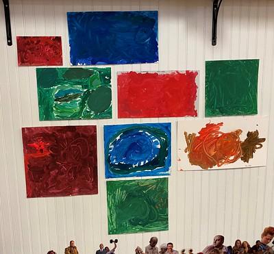 a display of monochrome art