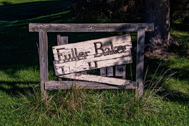 Fuller-Baker Log House Sign