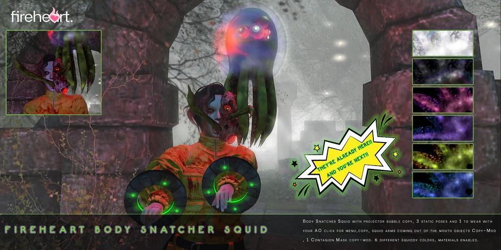 Fireheart Body Snatcher Squid