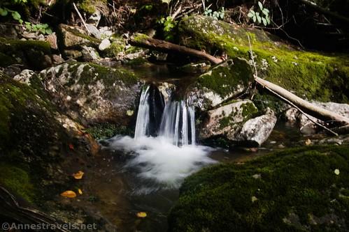 Small waterfall on Indian Pass Creek, High Peaks Wilderness, Adirondack Park, New York