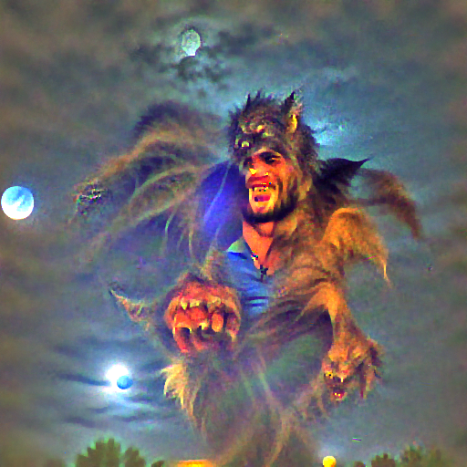 'a werewolf' FourierVisions Text-to-Image