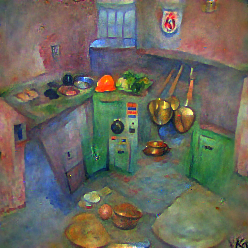 'a kitchen' FourierVisions Text-to-Image
