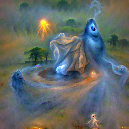 'a ghost made of mist' FourierVisions Text-to-Image