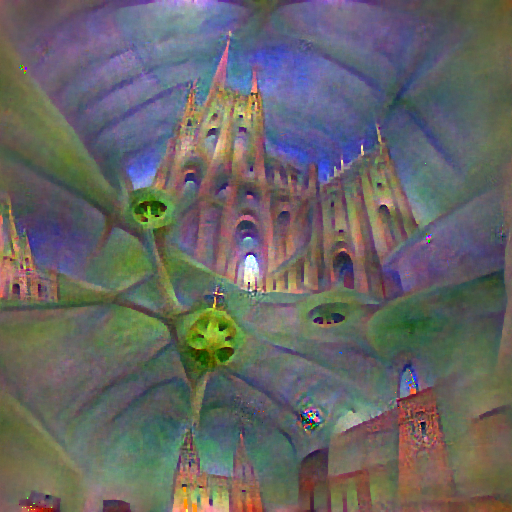 'a cathedral' FourierVisions Text-to-Image
