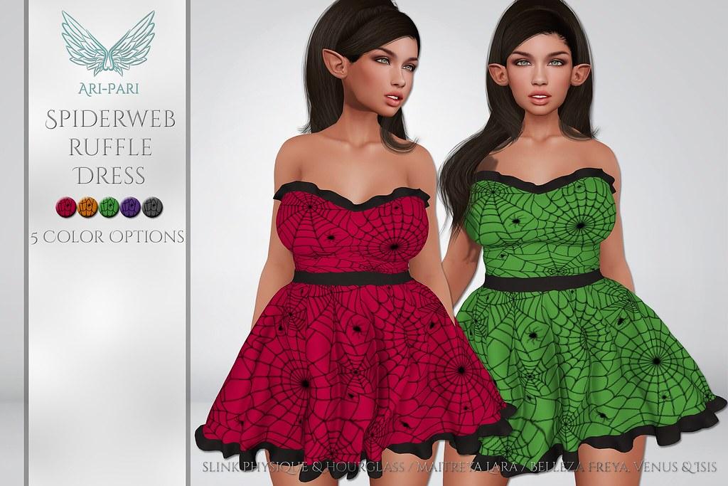 [Ari-Pari] Spiderweb Ruffle Dress