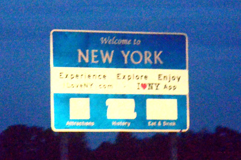 I-90 New York Welcome Sign