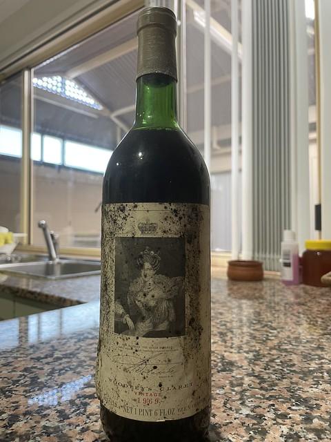 Birthday celebration with a wonderful 1969 bottle