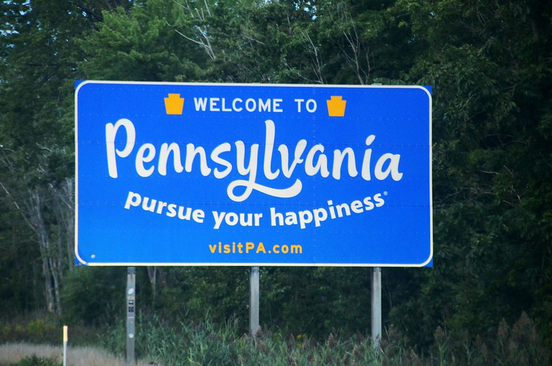 I-90 Pennsylvania Welcome Sign (2)