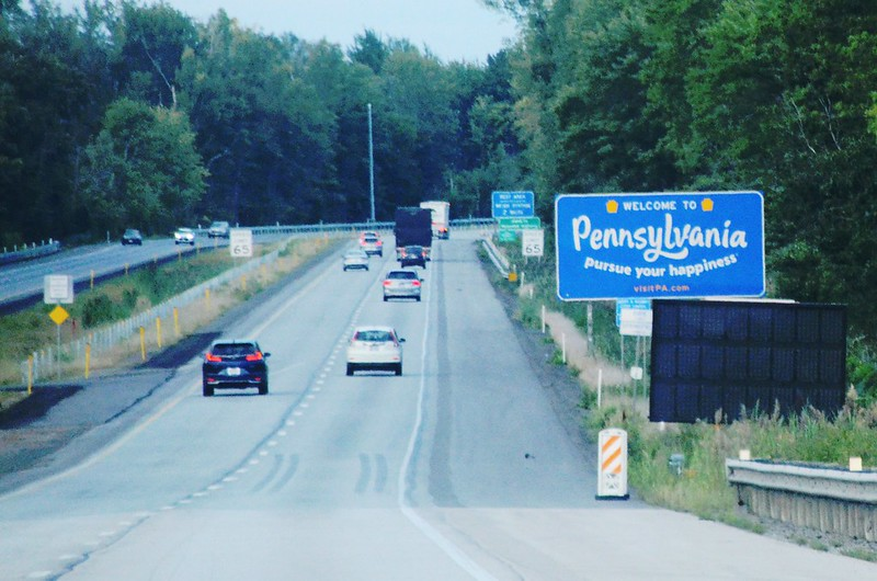 I-90 Pennsylvania Welcome Sign (1)