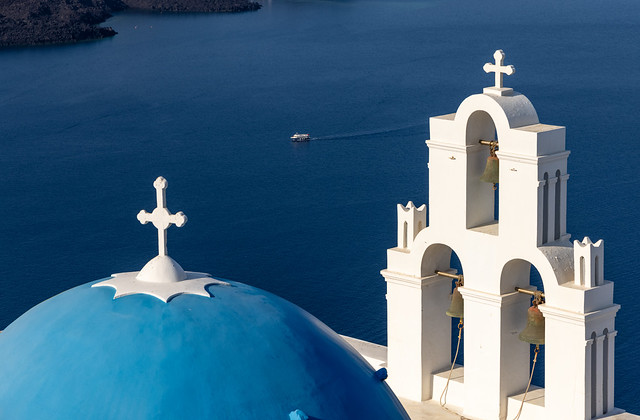 Fira Bells and  Blue Dome