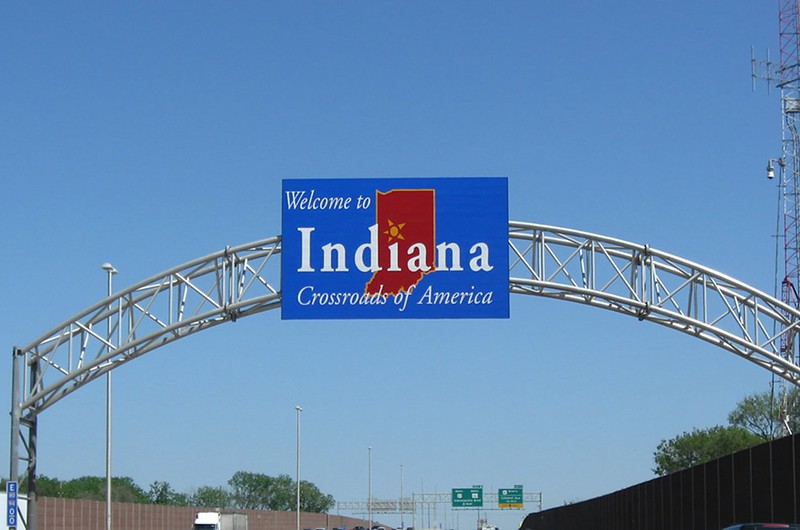 I-94 Indiana Welcome Sign