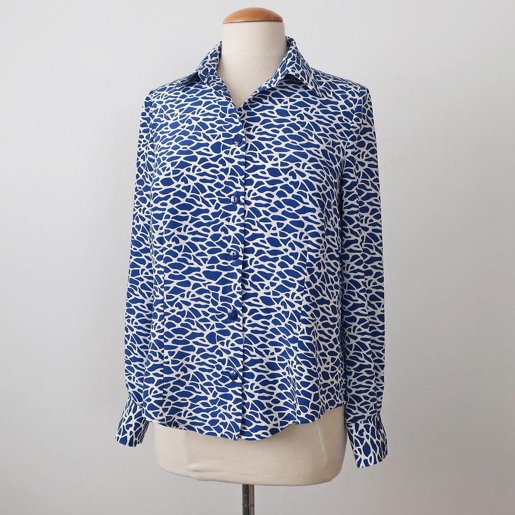 Silk shirt front