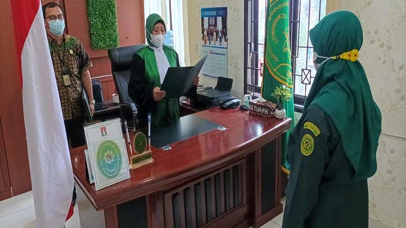 Pelantikan Dan Pengambilan Sumpah Jabatan Jurusita Pengganti Pengadilan Agama Binjai | (15/10)