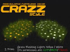 Grass Flashing Lights Yellow   White