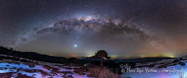 Vía Láctea desde el Llaima