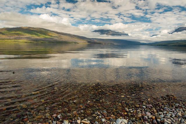 McDonald Lake Blue Sky Reflection