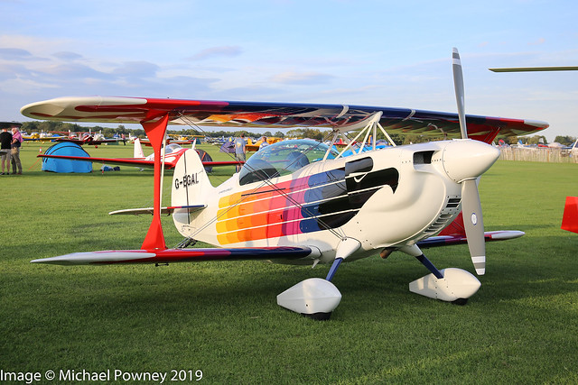 G-EGAL - 1995 build Christen Eagle II, at Sywell during the 2019 LAA Rally