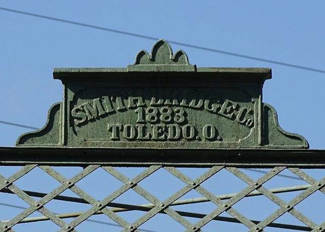 IN, Roanoke-Hamilton Road Steel Bridge Builder Plate