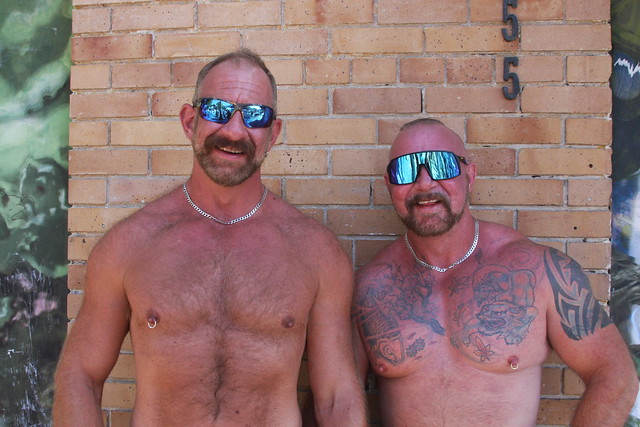 HANDSOME SHIRTLESS MUSCLE BULL STUDS ! photographed by ADDA DADA ! ~ CASTRO  STREET FAIR 2021 !  (safe photo) (50+ faves)