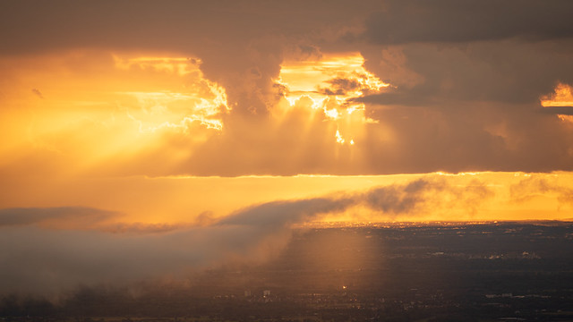 Breathtaking light in the rhine valley during the golden hour