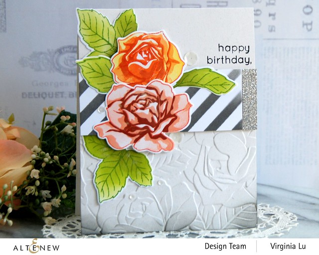 Altenew-PK Garden Rose-Glitter Cardstock Set - Dazzling Diamond