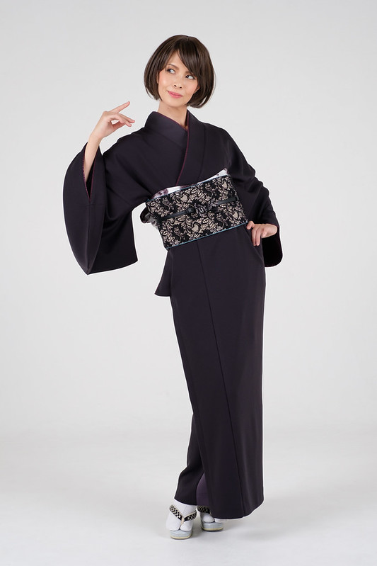 Kimono shooting in a studio