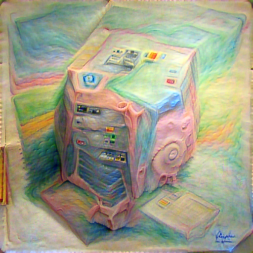 'a pastel of a computer made of paper' PyramidVisions Text-to-Image