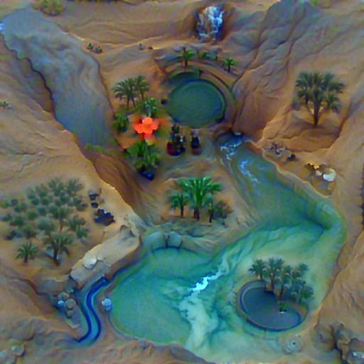 'a desert oasis' PyramidVisions Text-to-Image